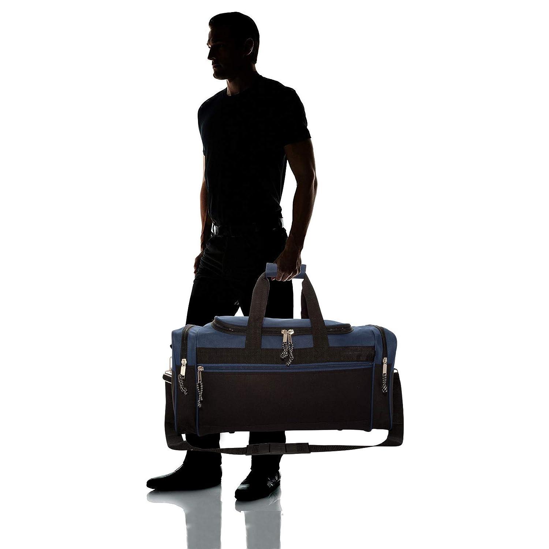 DALIX 19 Blank Sports Duffle Bag Gym Bag Travel Duffel with Adjustable Strap in Purple