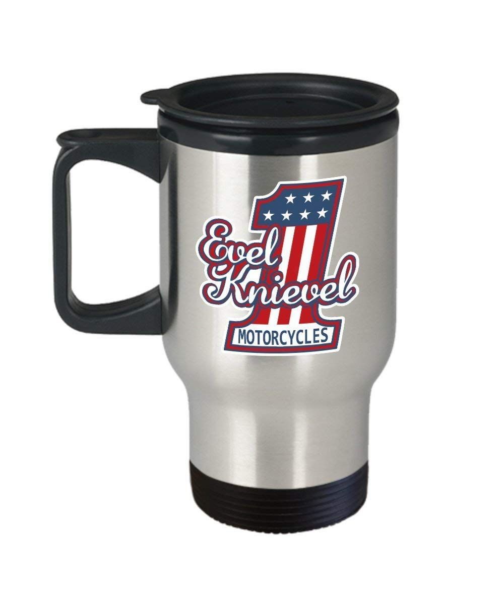 Evel knievel coffee mug cup travel 14oz motorcycle rider memorabilia poster gifts shirt sticker merchandise gear equipment accessories coffee mugbeer