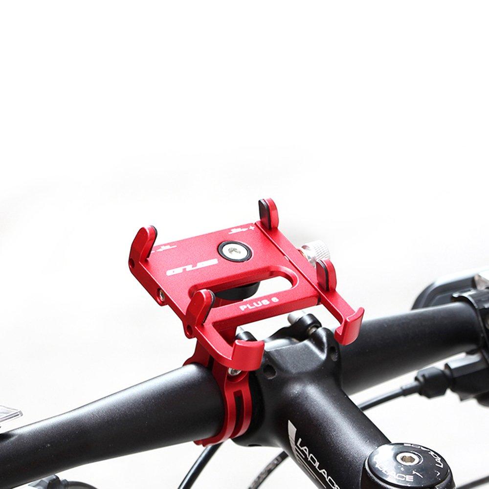 Adjustable Length Lixada GUB Bicycle Phone Holder with 360-Degree Rotation Aluminium Bicycle Handlebar-Mounted Clip-On Phone Holder