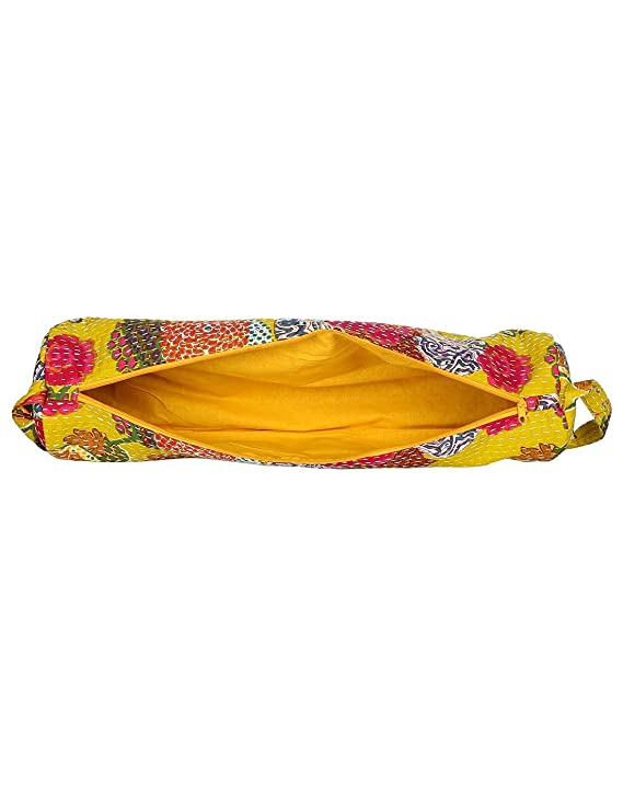 44a600650678 Amazon.com   Beautiful Yellow Hand Made Indian yoga Mat Bag