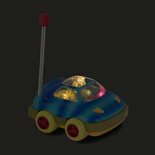 Branford LTD BX1235Z One Button Remote Control Light-Up Toy Car for Babies and Toddlers 1 Year Rally Ripster B toys by Battat