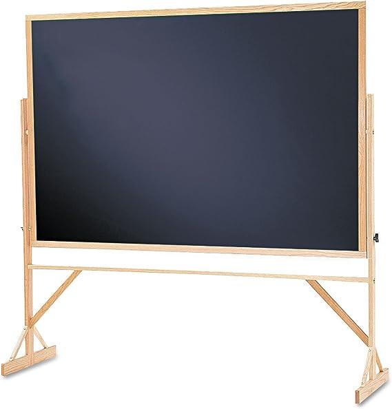 Quartet Chalkboard Reversible 4 X 6 Easel Style Black Melamine Chalkboard Hardwood Frame Wtr406 810 Digital Blackboard Office Products