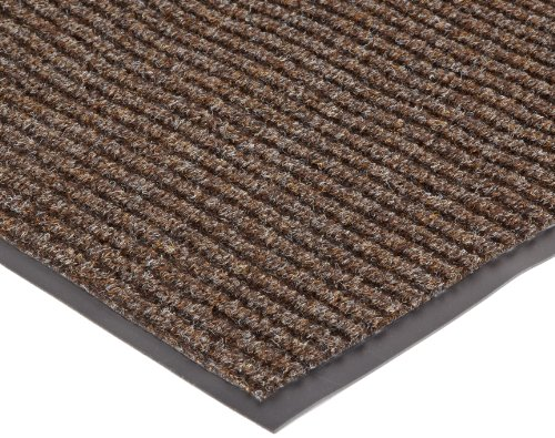 NoTrax 109S0035BR 109 Brush Step Entrance Mat, for Lobbies and Indoor Entranceways, 3' Width x 5' Length x 3/8
