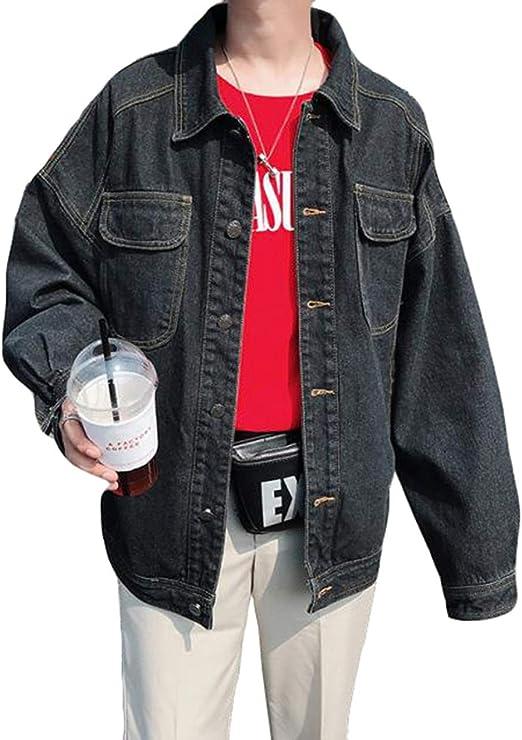 QYYデニムジャケット メンズ アウター ゆったり ジージャン カジュアル 長袖 大きいサイズ ジャケット 春服 上着 おしゃれ ストリート系