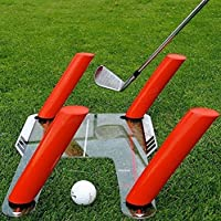 Speed Trap Golf Swing Trainer Training Aid Trap Base + 4 Speed Rods Practice