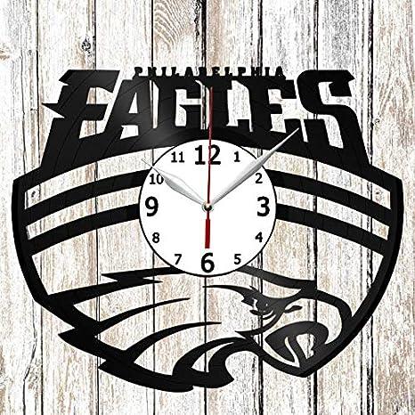 low priced 1769b 63d92 Amazon.com: Philadelphia Eagles Vinel Record Wall Clock Home ...