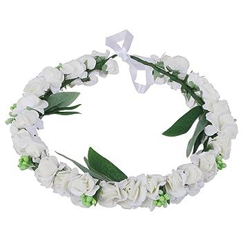 Hochzeit Blumenkranz Haarband Stirnband Blumen Kopfschmuck Kopfband