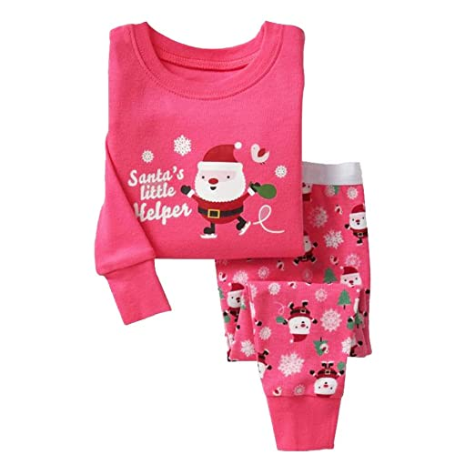 Image Unavailable. Image not available for. Color  Bling Stars Little Girls  Kids Toddler Santa Claus Christmas Pjs Sleepwear Cotton Pajamas Sets 77313cb3e
