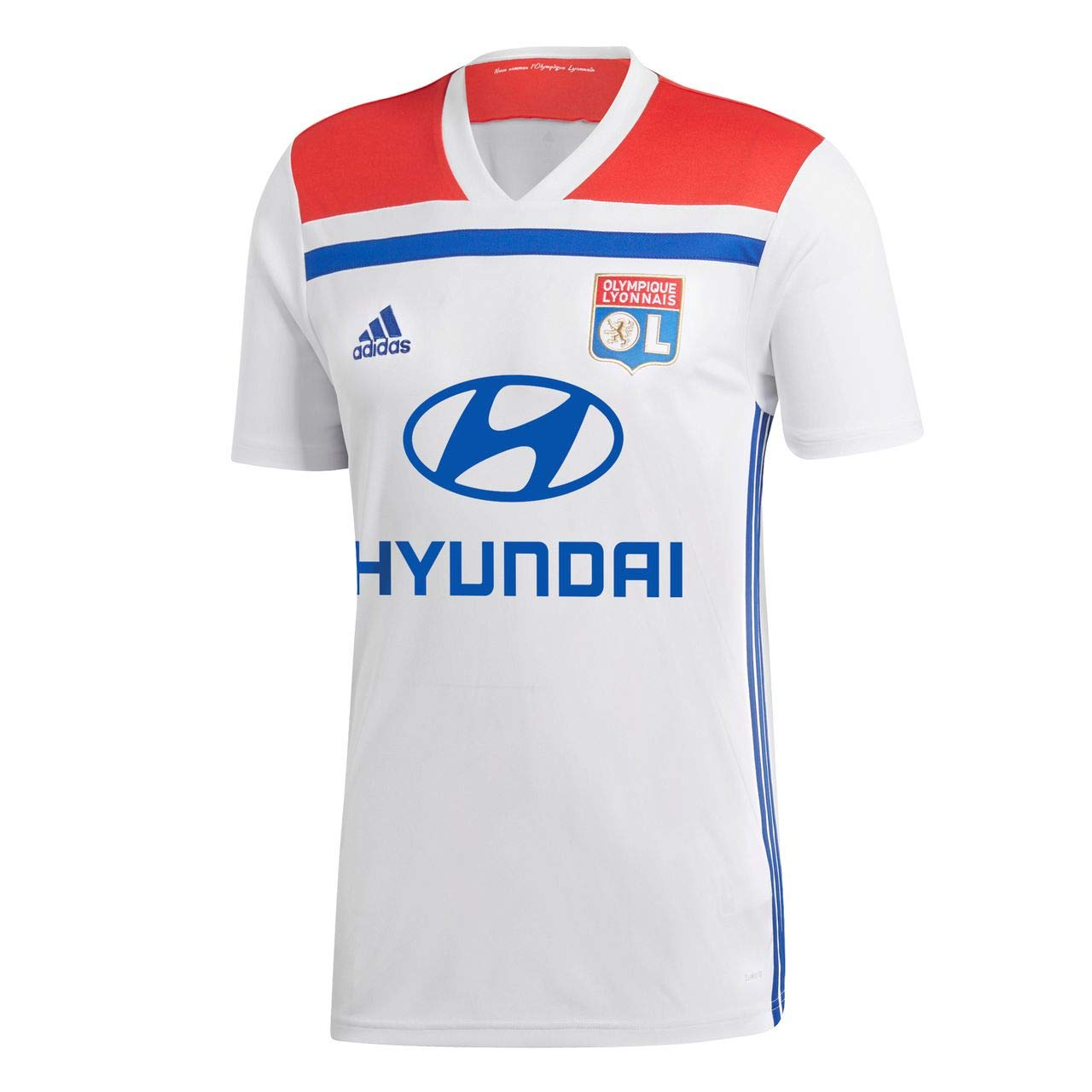 05eece4cf83 Amazon.com : adidas 2018-2019 Olympique Lyon Home Football Soccer T-Shirt  Jersey : Sports & Outdoors