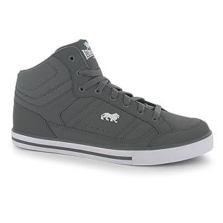 Lonsdale cannoni da Ginnastica da Uomo Grigio/Bianco Scarpe Casual Sneakers Calzature