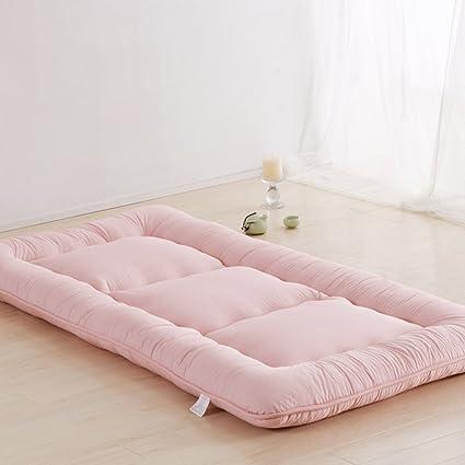 Lovehouse Sleeping Tatami Floor mat, Foldable Futon Tatami Mattress Soft Thick Japanese Student Dormitory Mattress Pad-Pink King