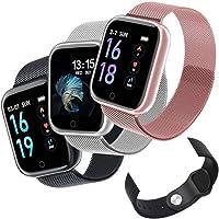 Relógio Smartwatch T80 Bluetooth Pressão Arterial Frequência Cardíaca Oxigênio no sangue IP67 Compatível com Strava + Pulseira Extra (PRETO)