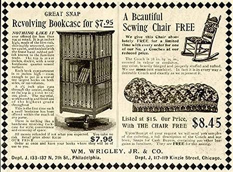 Groovy Amazon Com 1908 Wm Wrigley Jr Revolving Bookcases Inzonedesignstudio Interior Chair Design Inzonedesignstudiocom