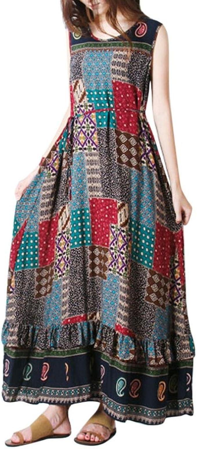 Binggong Kleid Damen, Frauen Sommer Partei Langes Maxi Kleid