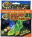 Zoo Med 2-Pack Daylight Blue Reptile Bulb, 60-watt by Zoo Med