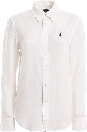 Polo Ralph Lauren camisa mujer mod. 211-780673 Color blanco Bianco XS: Amazon.es: Ropa y accesorios