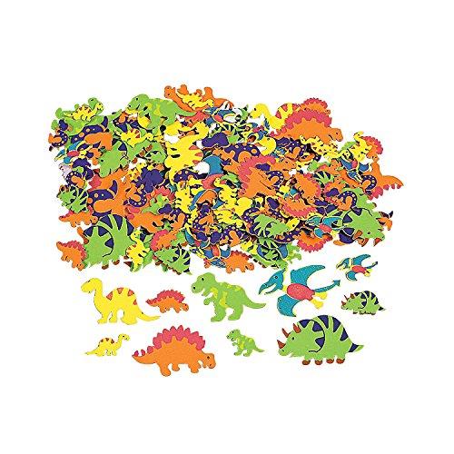 Fun Express - Fabulous Foam Adhesive Dinosaur Shapes - Craft Supplies - Foam Shapes - Regular - 500 Pieces