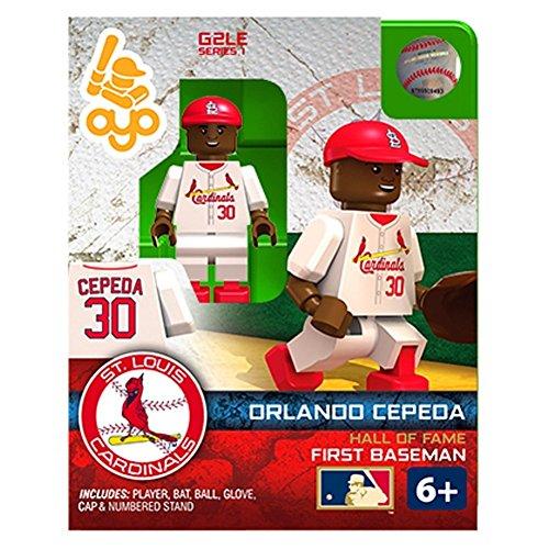 Orlando Cepeda MLB St Louis Cardinals G2S1 Hall of Fame Mini Figure (Fame Mini Bat)