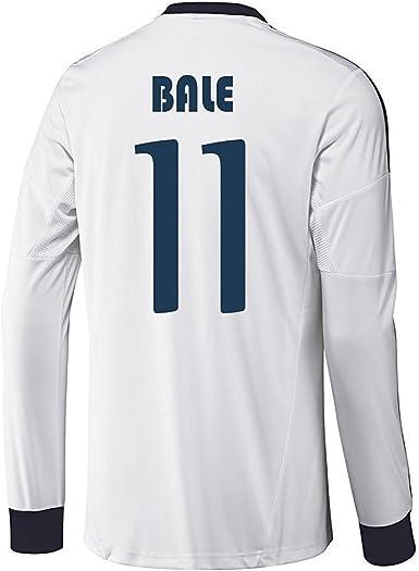 adidas Bale # 11 Real Madrid casa Camiseta de Manga Larga 2012 – 13 - Blanco -: Amazon.es: Ropa y accesorios