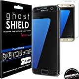 TECHGEAR® Samsung Galaxy S7 Edge [ghostSHIELD Edition] Genuine Reinforced TPU Screen Protector Guard Cover with FULL Screen Coverage including Curved Screen Area [3D Curved Edges Protection] (SM-G935)
