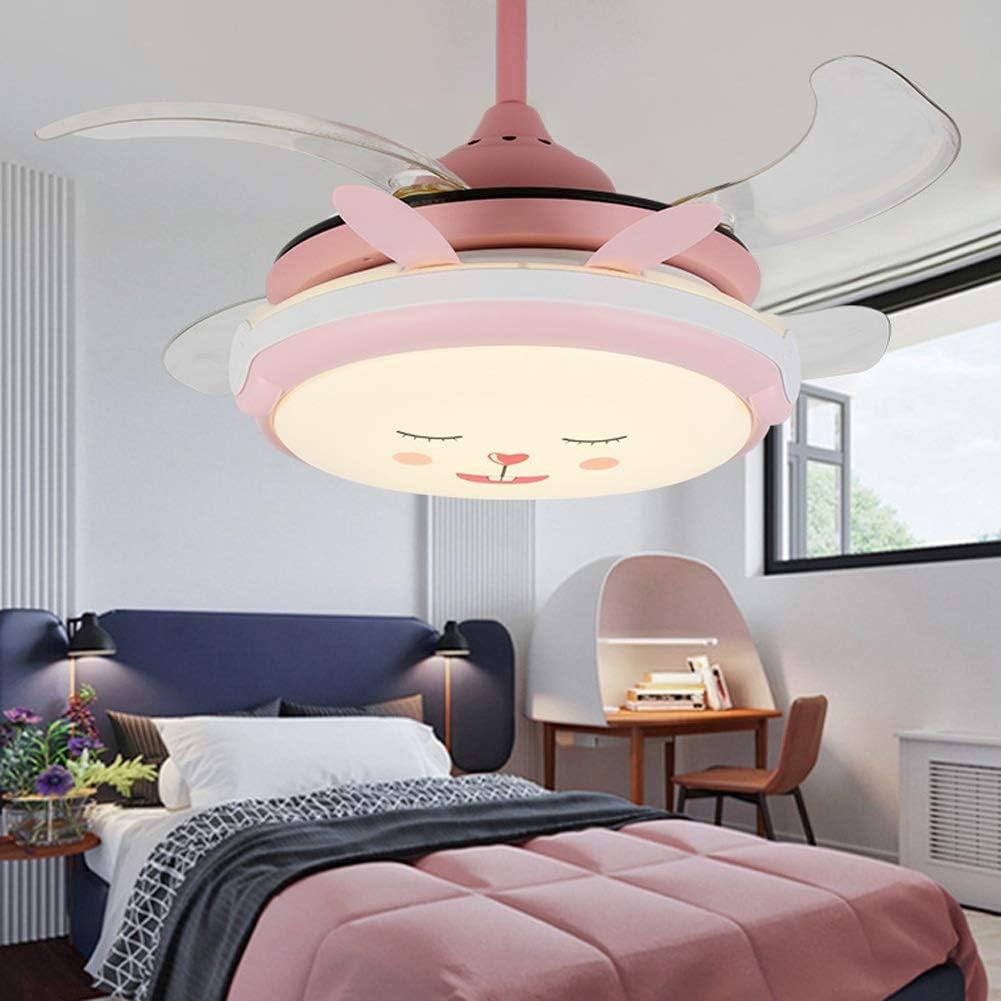 MMD Moderno Ventilador de Techo con luz Interior Rosa, Luces de ...