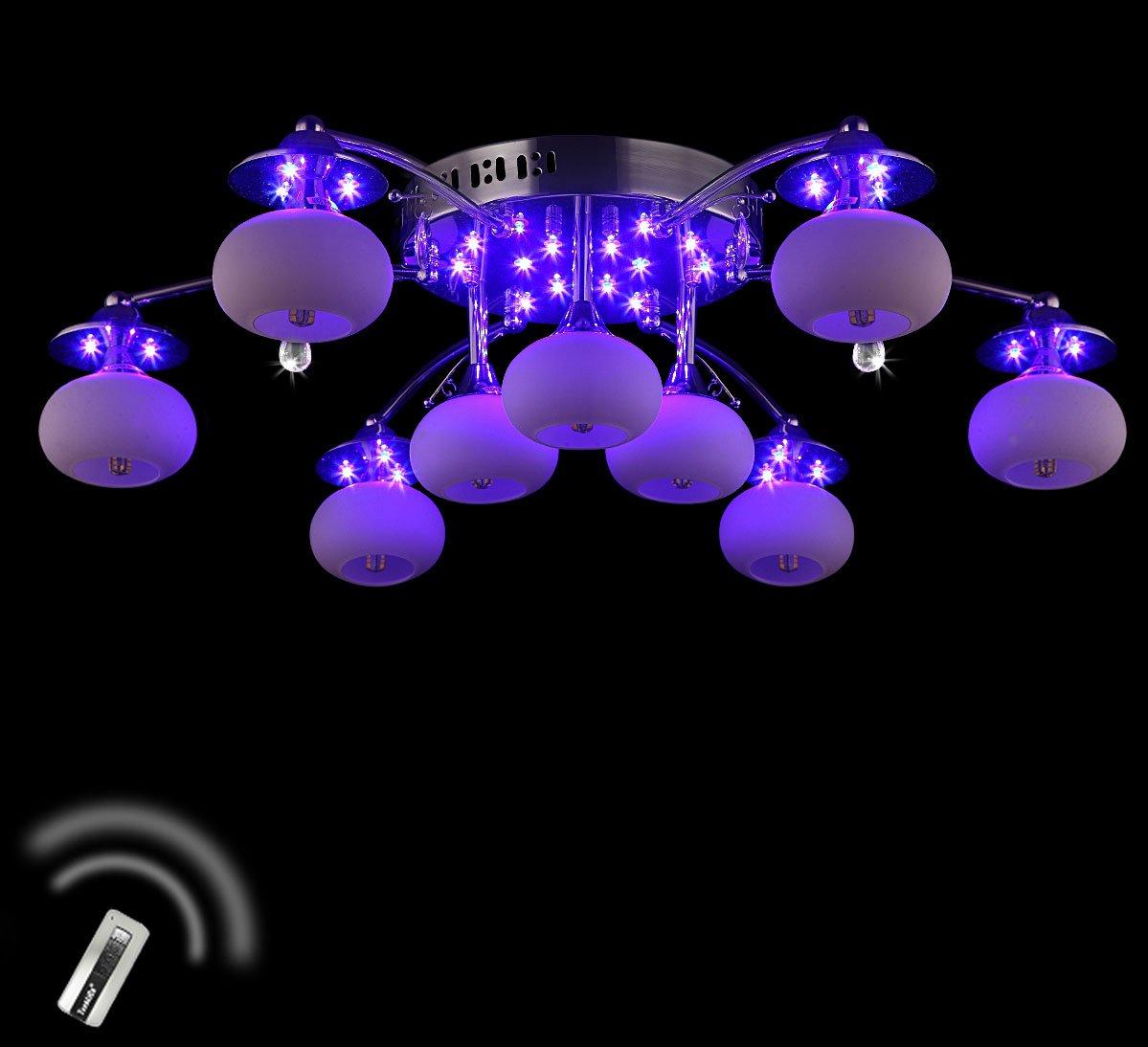 XL Farbwechsel Led Deckenleuchte Wohnzimmer Deckenlampe mit Fernbedienung 70 cm