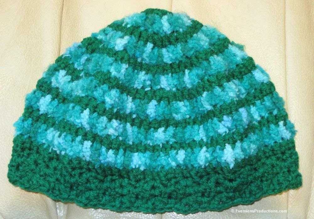 Amazon Com Cloche Hat Chemo Cap 22 24 M L Adult Emerald