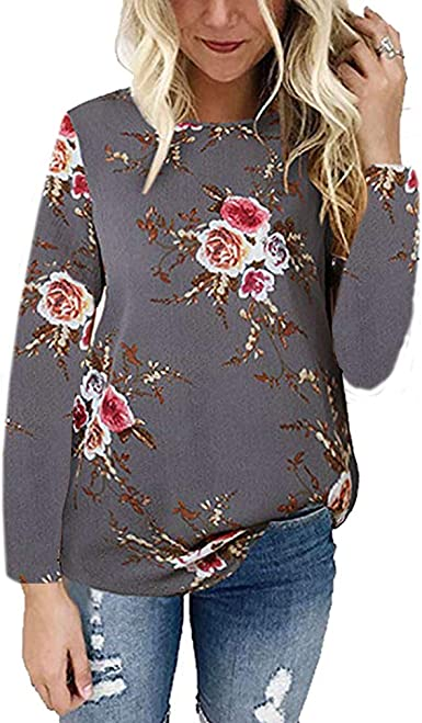 Office Floral Casual Women Loose Ladies Shirt Top Shirts Casual Women/'s Tops