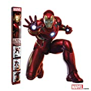 Decalcomania Marvel 12-Pc Iron Man Wall 23  x 28  Decal With 3D Augmented Reality Interaction