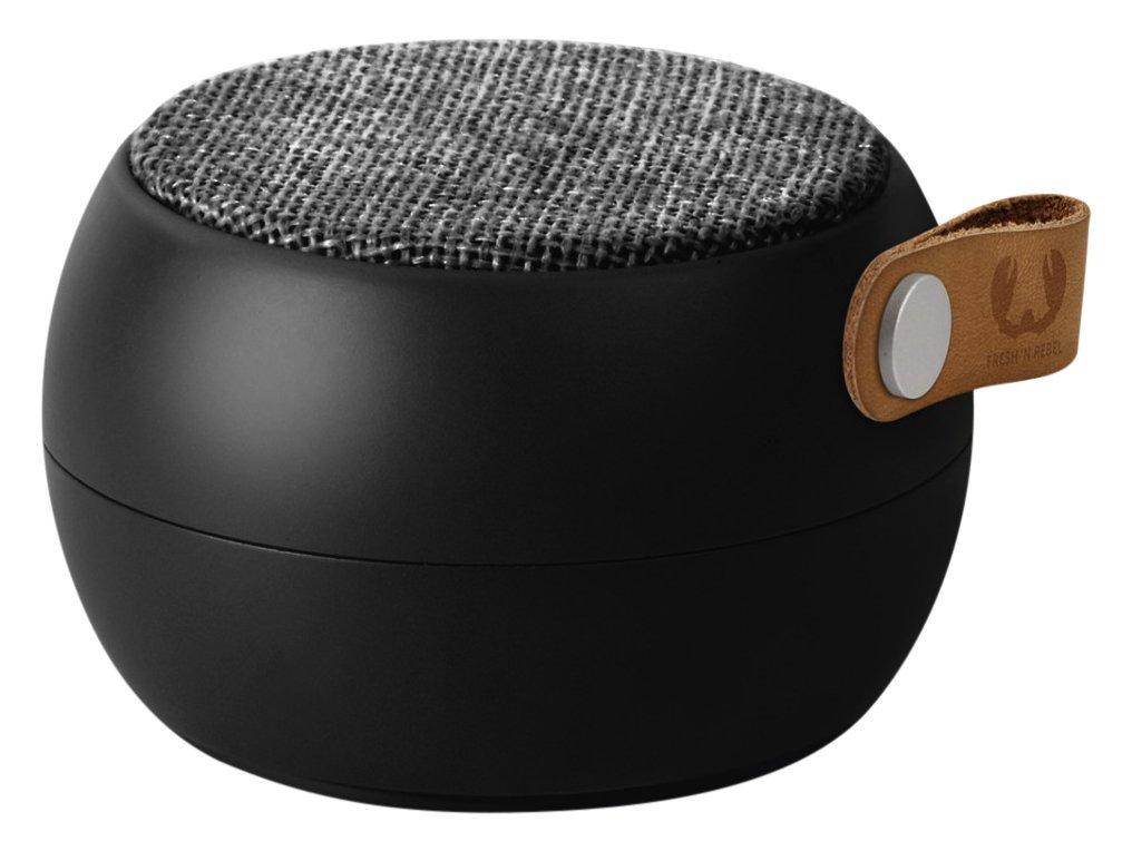 Fresh 'n Rebel Speaker Rockbox Round H2O Fabriq Edition, Altoparlante Bluetooth Portatile senza fili, IPX4, Resistente all'Acqua, Vivavoce, In tessuto, Nero Concrete