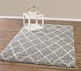 Diagona Designs Contemporary Beni Ourain Inspired Trellis Design Modern Shaggy Area Rug, 7'10