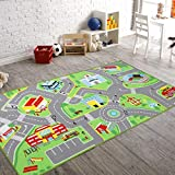 """JACKSON 79""""X40"""" Kids Rug Play mat for Toy Cars, Safe,Colorful and Fun Play Rugs with Roads for Bedroom and Kid rooms, Car rug to have hours of fun on,Area Rug Mat with Non-Slip and No Chemical Smell Backing (car rug, 79""""X40"""")"""