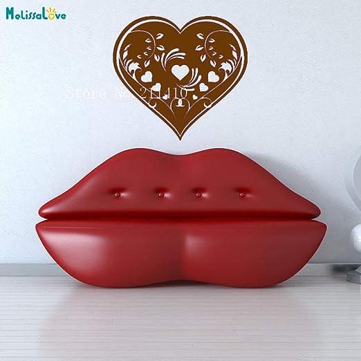 zhuziji Art Wall Decals Heart Vine Design Wallpaper Sticker ...