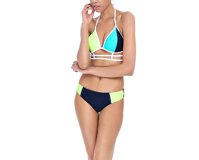 dd72c73a1c Amazon.com: Trendy-Nicer 2018 New Sexy Push up Bikini Brazilian Bandage  Halter Top Bathing Suits Retro Beach Vintage: Clothing