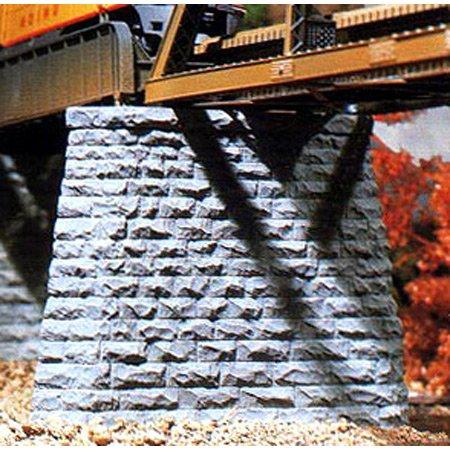 Chooch Enterprises CHO9830 N-Scale Cut Stone Bridge Pier, Pointed End (2)