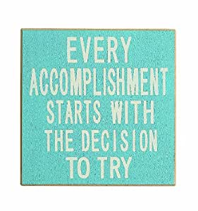 "Creative Co-Op Inspirational ""Every"" MDF Wall Plaque, Blue"