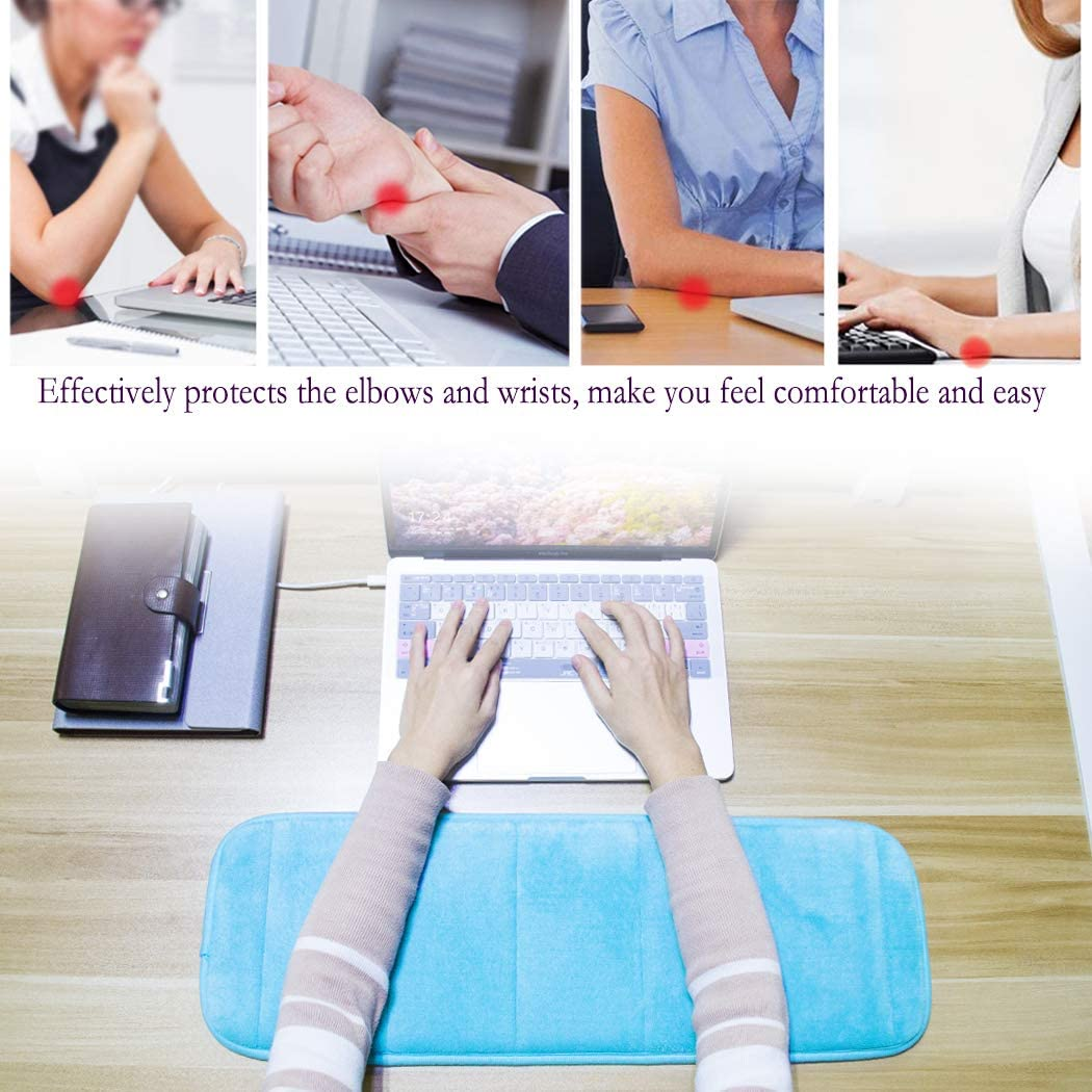 Premium Arm Support Mat for Office Table Desktop Working Gaming Less Elbow Pain 1Pc Computer Wrist Elbow Rest Pad AUHOKY Upgraded Keyboard Elbow Pad Moderate Size 7.9 x 27.5 Inch, Gray