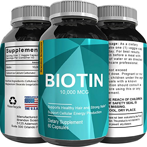 Pure And Potent Biotin Supplements To Combat Hair Loss + Support Hair Growth + Aid In Weight Loss For Men And Women - Natural Vitamins For Hair Growth - Can Help Reduce Thinning Hair (Weight Aid)
