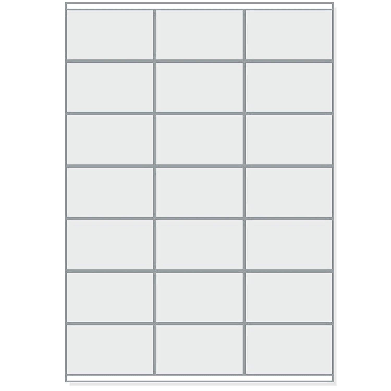 2100 unidades en 100 hojas A4 70 x 41 mm Lote de etiquetas autoadhesivas color blanco 7 x 3 Printation compatible con 3481 y 4473
