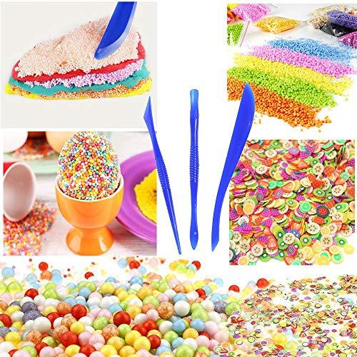 Clearance Sale!UMFun Colorful Styrofoam Foam Balls Slime Tool Fruit Slice For Slime Making Art DIY -