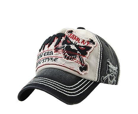 4c0a1b2de04 XueXian(TM) Men s Boys Gothic Skull Baseball Cap Sun Hat Peaked Embroidered  Hats (