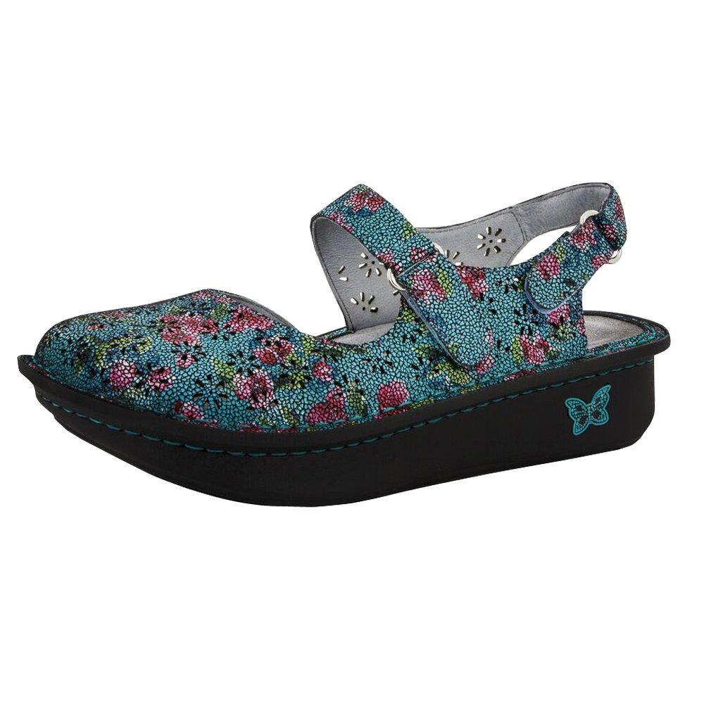 Alegria Womens Jemma Mary Jane Sandal Aqua Flora Size 38 EU (8-8.5 M US Women)