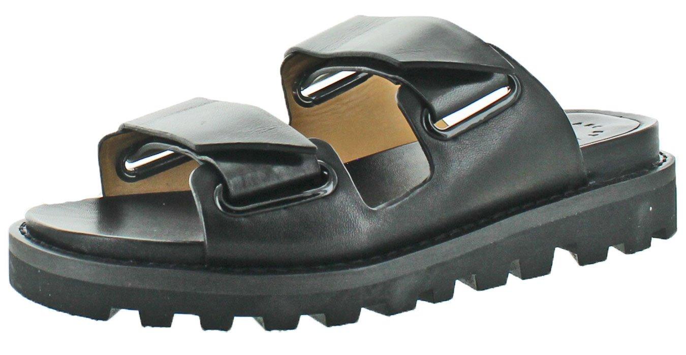 Marc by Marc Jacobs Women's Street Stomp Flat Sandals, Black, 38.5 EU (8.5 B(M) US Women)
