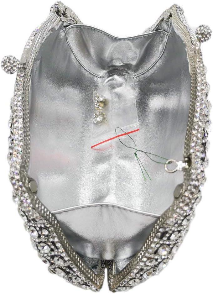 XLJJB Sacchetti da Sera con Frizioni Argento Abbagliante Borse da Sposa in Cristallo da Cocktail E Borse Borsa da Sposa da Sposa 2