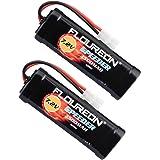 Floureon Batterie RC 7,2V Batterie NiMH 3500mAh Batterie de Modèle Plug avec Batterie Batterie de Remplacement pour Tamiya RC Voiture Avion Hélicoptère Bateau Buggy 2X