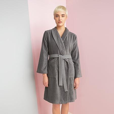 3bb7c807b1a18 Kenzo KZ Iconic Bath Robe Grey - M  Amazon.co.uk  Kitchen   Home