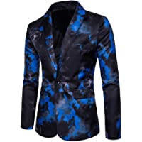 Adelina Slim Fit Men's Colorful Blazer Pattern Casual Smoking Wedding Jacket Blazer Retro Party Slim Fit Wedding Tuxedos Men's High End Floral Printed Vintage Suit Jackets Long Sleeve