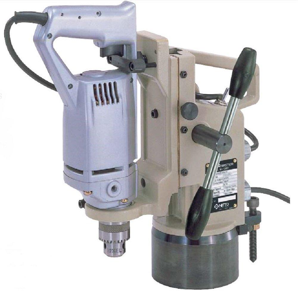 Nitto Kohki M-100D Atra Ace Manual Feed Magnetic Drill, 3/8'' Hole Capacity