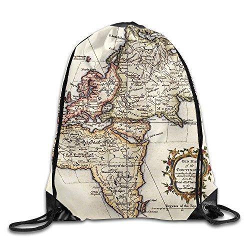 old world map bag - 2