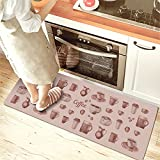 USTIDE Classic Anti-Fatigue Kitchen Comfort Chef Floor Mat, 17.7x59,French Roast Non-slip Waterproof Kitchen Runner,Oil Proof Multi Area Rugs